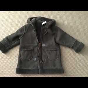 Girls Faux Shearling Coat, Size 3